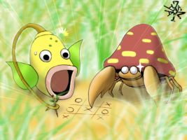 Weepinbell and Parasect by Florensa