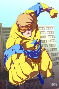 Booster Gold by johnnymorbius