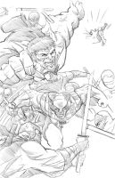 Hulk and wolverine vs the hand Copy by joriley