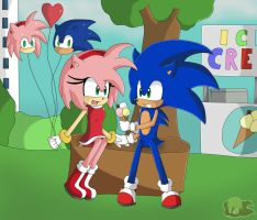 Contest Entry: Sonamy Date by Flame-of-Icarus