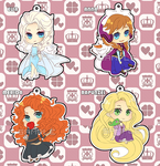 Disney Princess Acrylic Charms by Rinslettuce