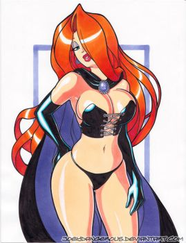 Jessica Rabbit pin up marker drawing by JoeOiii