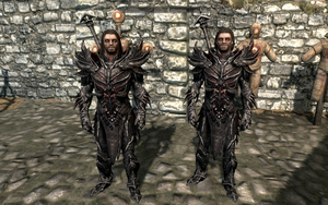 Farkas 'n Vilkas in Daedric Armour by Mediziner