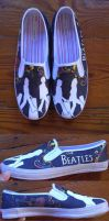 The Beatles Custom Shoes by madeleinedemontreal