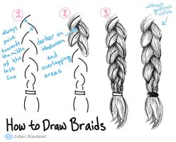 How To Draw Braids by Leharc--BlueHeart