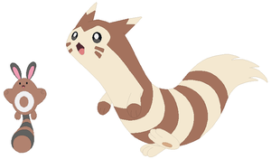 Sentret and Furret Base by SelenaEde