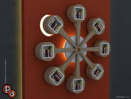 360 degree Book shelves by creativegenie