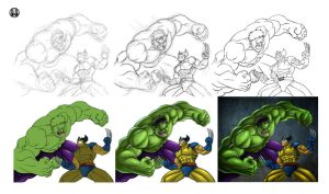 Hulk vs Wolverine - walkthrough by GONZZO