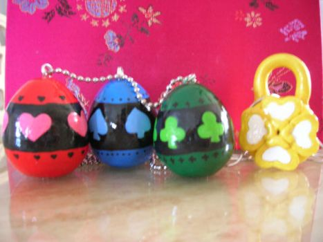 Shugo Chara Eggs and Lock by kneazlegurl125