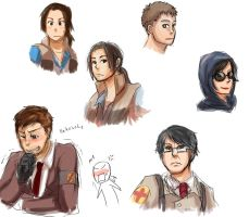 TF2 some ocs with colour by qianying