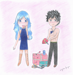 For me? - Gruvia Valentine's Day by miyako-for-you