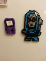 Mr.Freeze and Gameboy beadsprite by ruggala08