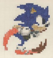 Sonic - pixel for pixel -color by Binarin