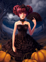 The Lady of Halloween by nokecha