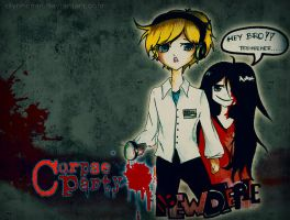 Pewdiepie and sachiko CORPSE PARTY by DlynnChan