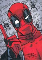 Deadpool sketch card by KidNotorious