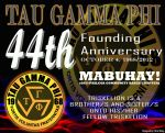 TAU GAMMA PHI 44TH FOUNDING ANNIVERSARY TRISKELION by khingfiles