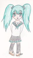 Lil school girl Miku by sha-nisu