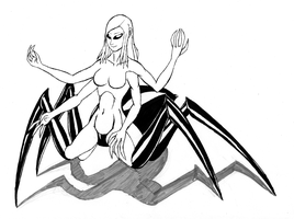Arachnid Monster by bronzetitan