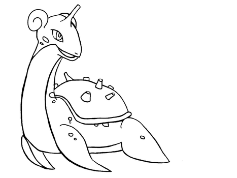 Lapras Outline by Child-of-Minerva
