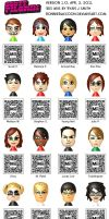 Scott Pilgrim 3DS Miis v1.0 by ronnieraccoon