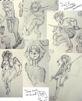 Soul Eater Homestuck Sketches by RoyalLie