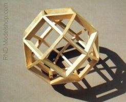 Rhombicuboctahedron Wood Model by RNDmodels