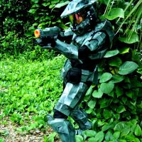 MJOLNIR Mark VI suit with Nerf Magnus mod by bearwithchainsaw