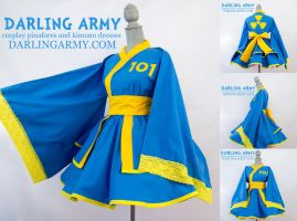 Vault Boy Fallout Cosplay Kimono Dress by DarlingArmy
