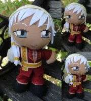 Commission, Mini Plushie Agni, Red Ensemble by ThePlushieLady