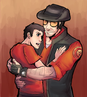 TF2 Sniper and Scout by MoonlightTheWolf