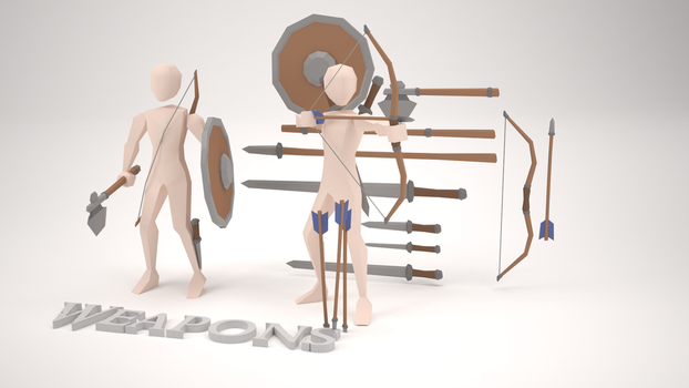 Low Poly Assets - Weapons by MacLellan