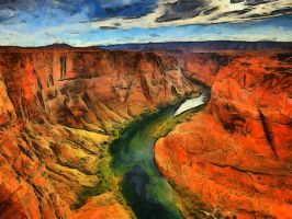 Colorado River by Jessica-Art