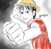 Kickstarter Commission: Luffy by FaithWalkers