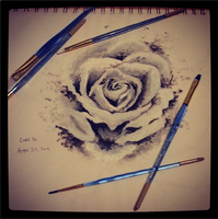 Painted a rose for the first time. o/ by arisufae