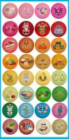 Kawaii Color Button Bonanza by KawaiiUniverseStudio