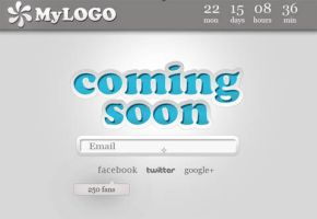 Coming Soon page psd template by NatalyBirch