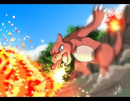 Charmeleon - B-day gift by TussenSessan