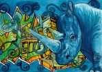 .South African Rhino Graffiti. by CheshireSmile