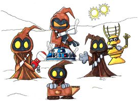 Jawa Family Portrait markerd by 5chmee