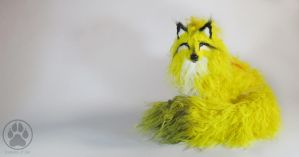 SOLD Sulfide the Sulphur Wolf artdoll OOAK by CreaturesofNat