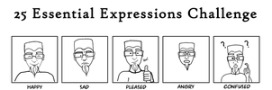 25 Expressions Meme WIP by Songwind