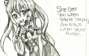 A sketch of Rika by axxifi