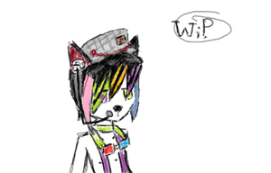 my furloid in planning stage by news-print-hat