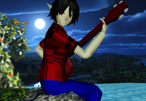 MMD Marshall Lee model (DL) by AochiYoruneko