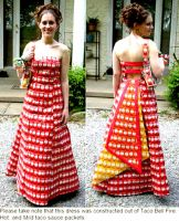 prom- taco sauce dress by Sky-FineArt