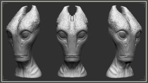 Salarian head by Excalle
