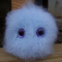 Blue Poof Monster by ChezMichelle