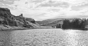Holyrood Park BW by BusterBrownBB