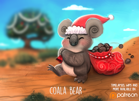Daily Paint 1492. Coala Bear by Cryptid-Creations